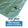 Copertura Invernale Piscina WINCOVER 6 m x 12 m SENZA Tubolari
