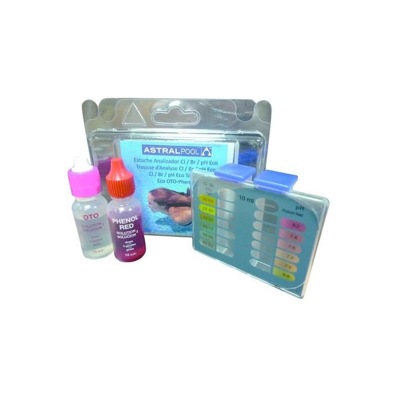 Test kit economico per analisi cloro bromo e ph della piscina - Misuratore ph piscina ...