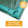 Copertura invernale Premium con tubolari per piscina 7x14