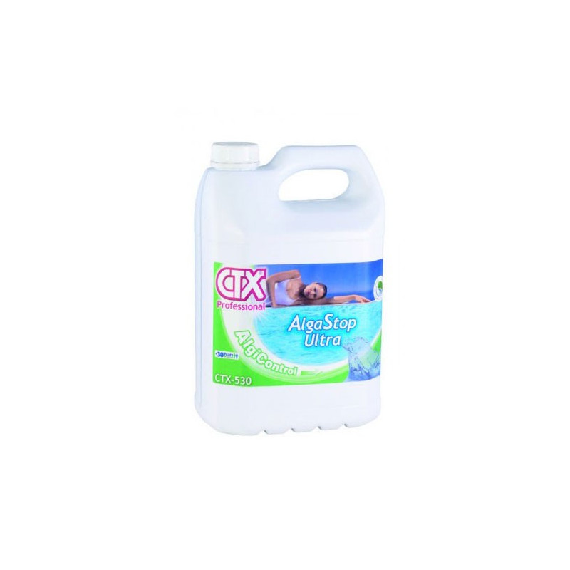 Antialghe piscina ultra ctx 530 liquido 5 lt pronto piscine for Antialghe per piscine