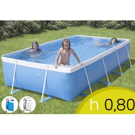 Piscina Fuori Terra Rio 400 TOP - 395 x 215 h 80 mt - Filtro Cartuccia