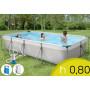Piscina Fuori Terra Silver Frame 400 - 395 x 210 h 80 mt - Filtro Cartuccia