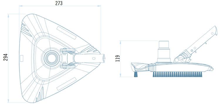 Aspirafango Piscina Triangolare SHARK
