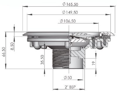Dimensioni Bocchetta J-UP