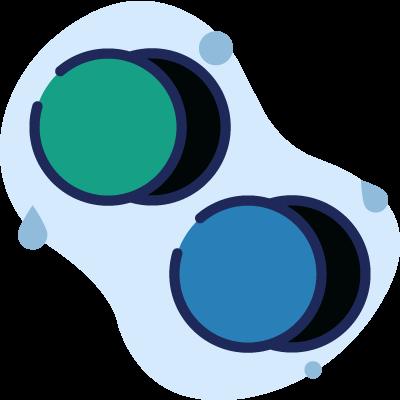 copertura bicolore con 2 opzioni