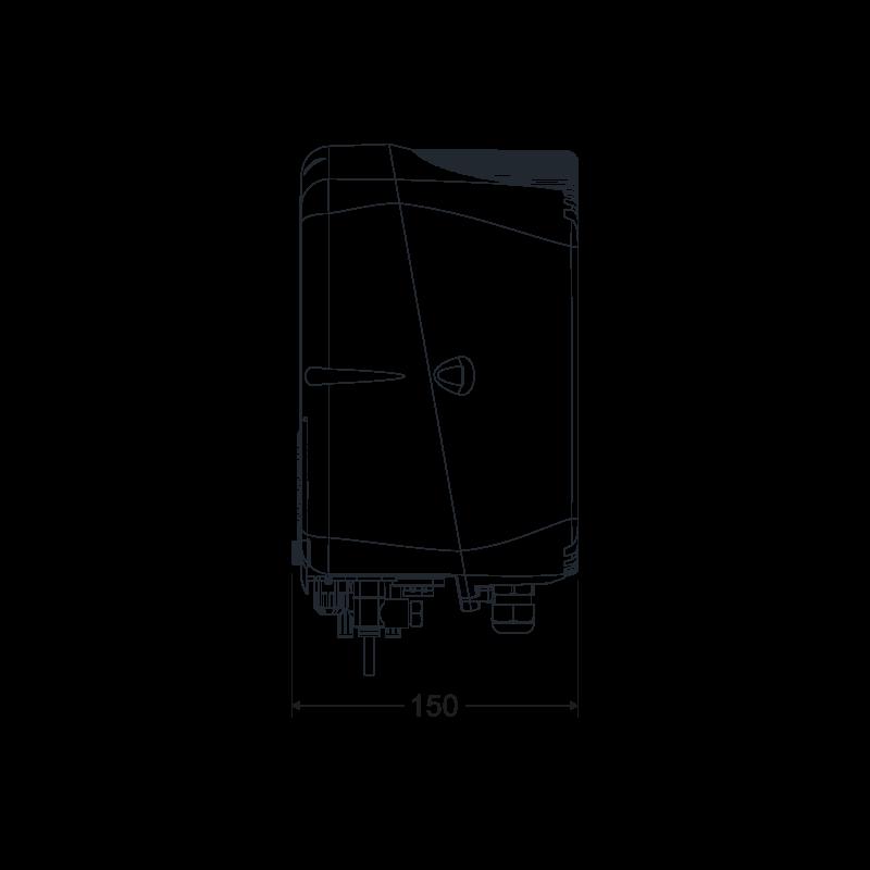 Centralina - Vista laterale