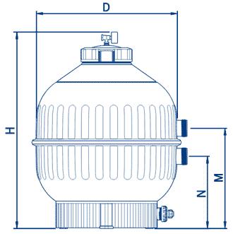 Filtro Cantabric Piscina Dimensioni