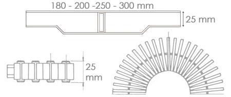 Griglia bordo sfioro piscina GR47