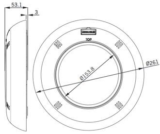 Faro LumiPlus S-Lim Dimensioni