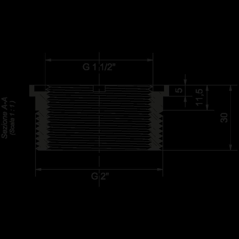 Dimensioni Faro LED 216 mm