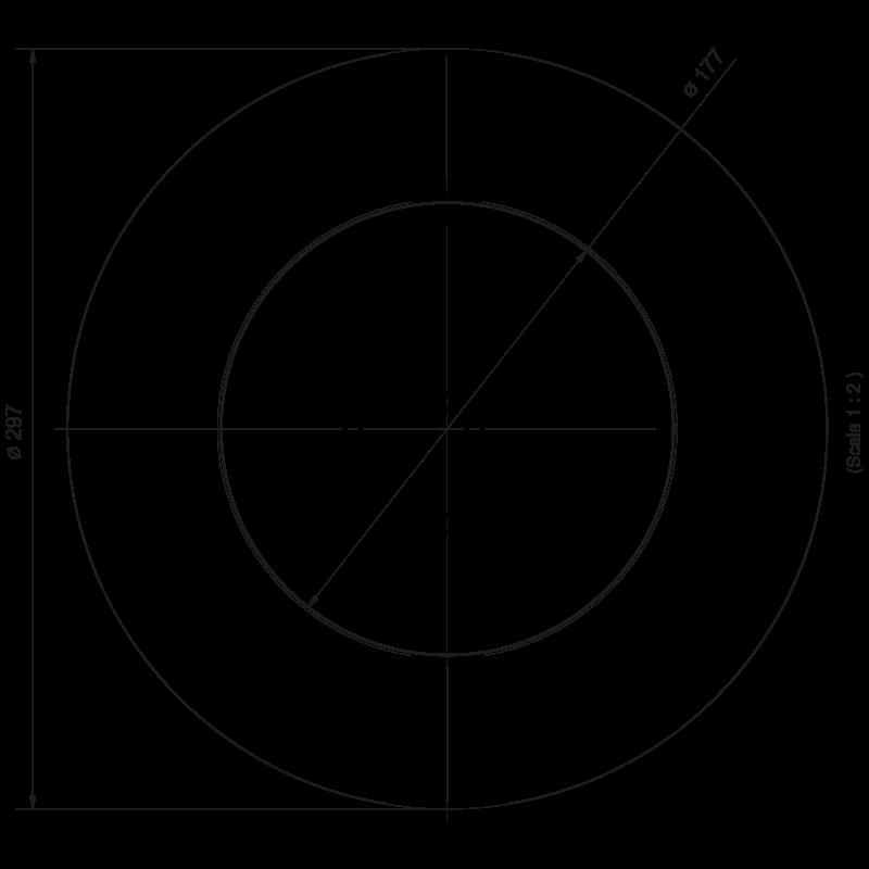 Dimensioni Faro LED 297 mm