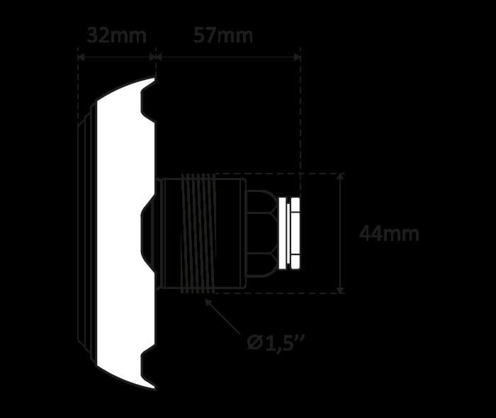 mini proiettore - vistalaterale