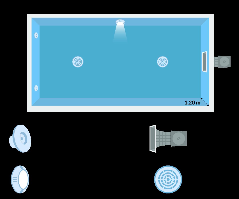 schema piscina interrata