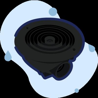 scarico di fondo nero