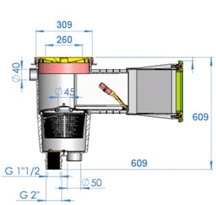 Skimmer Classic Dimensioni