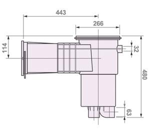 Dimensioni Super Skimmer 22 lt