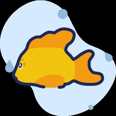termometro pesce rosso